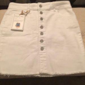 White Jean skirt!